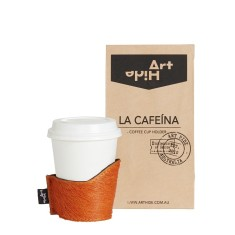 La Cafeina coffee cup holder in orange
