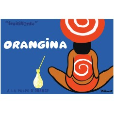 Orangina Fruitllante vintage poster print by Villemot