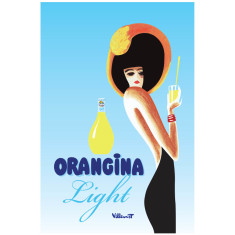 Orangina light vintage poster