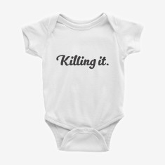 Killing It printed baby onesie