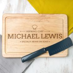 Personalised 'Aspiring Chef' Chopping Board