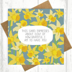 Pretty 0.01% of grateful daffodil card