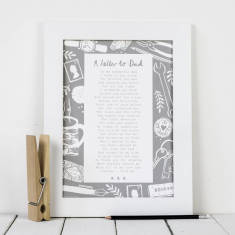 Dad poem letter to dad personalised print