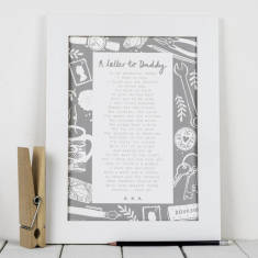 Daddy poem letter to daddy personalised print