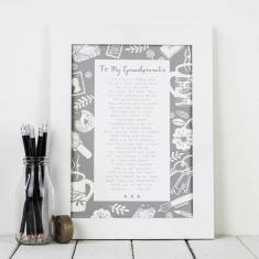 Grandparent poem letter to grandparents personalised print