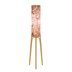 Phoebe original lamp with aviary plum paper and tri base