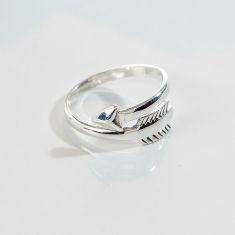 Silver chiko arrow ring