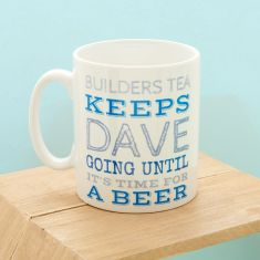 Keep going personalised mug for him