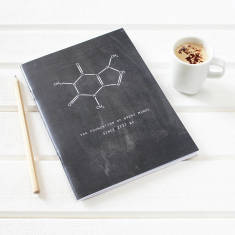 Caffeine notebook for coffee lovers