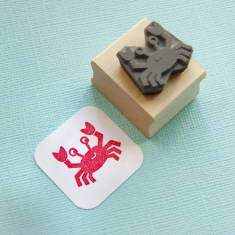 Cheeky crab rubber stamp