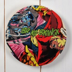 Superhero comic strip circle wall art