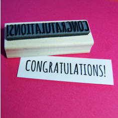 Congratulations rubber stamp