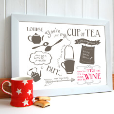 Just my cup of tea friendship print