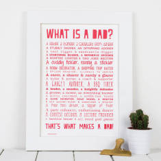 What is a dad? Personalised poem print