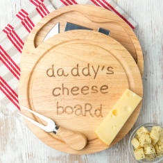 Daddy's Cheese Board Set With Knives