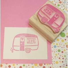Caravan of love rubber stamp