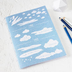 Cloud types notebook in blue