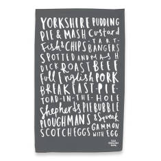 English food tea towel