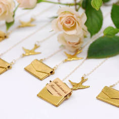 Personalised mini love letter necklaces (set of 5)