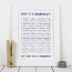 What is a grandparent? personalised poem print