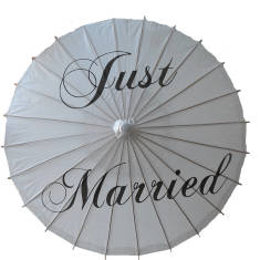 Wedding just married paper parasol