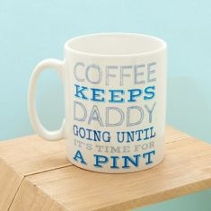 Keep going personalised mug for dad