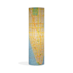 Phoebe original lamp with New York map paper