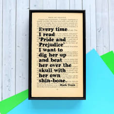 Mark Twain on Pride and Prejudice quote print