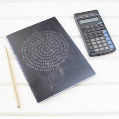 Maths design Pi notebook