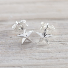 Silver my star earrings