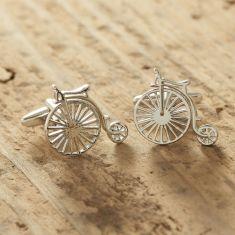 Penny Farthing silver cufflnks