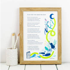 Personalised Child's story poem wall art