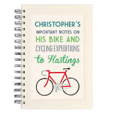 Personalised communique bike notebook