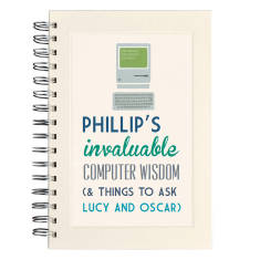 Personalised communique computer notebook