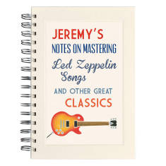 Personalised communique music notebook