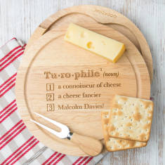 Personalised Dictionary Style Cheese Board Set