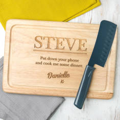 Personalised Engraved Funny Chopping Board