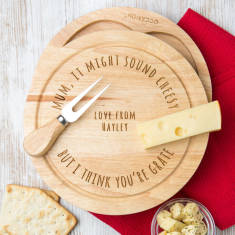 Personalised Engraved Mum's Cheese Board Set