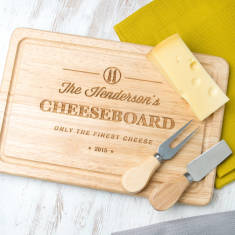 Personalised Family Rectangle Cheese Board