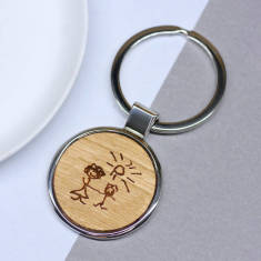 Personalised hand drawn key ring