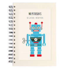 Personalised robot teacher notebook