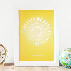 Personalised sun miles anniversary print