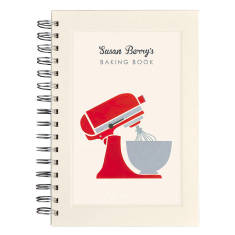 Personalised mixer notebook