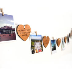 Personalised our story heart garland