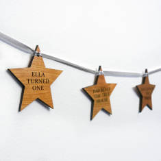 Personalised our year star garland