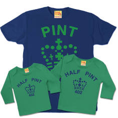 Pint and half pint trio set (various colours)