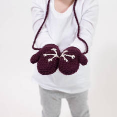 Child's hidden snowflake mittens