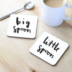 Big spoon and little spoon coasters