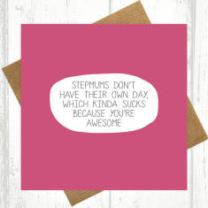 Awesome stepmum card
