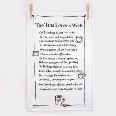 Tea lover's week poem tea towel